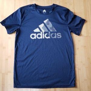 Boys Navy Blue Climalite Adidas Shirt XL